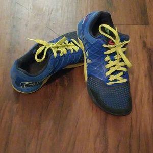 Royal blue and yellow Reebok Nano 4. Sz 9